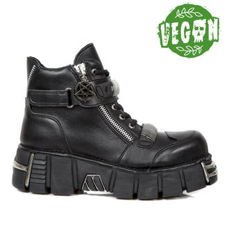 boty NEW ROCK - VEGAN NEGRO VEGAN, VEGAN NEGRO, NEW ROCK