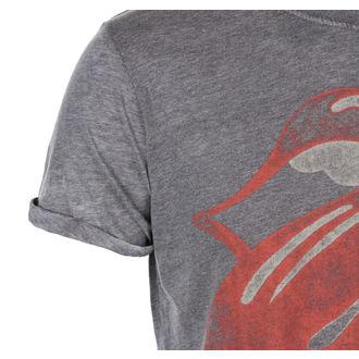 tričko pánské Rolling Stones - Vintage Tongue Logo - Charc BO - ROCK OFF, ROCK OFF, Rolling Stones