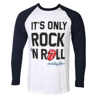 tričko pánské s dlouhým rukávem Rolling Stones - Only Rock n Roll - White Raglan - ROCK OFF, ROCK OFF, Rolling Stones