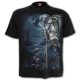 tričko pánské SPIRAL - RAVEN QUEEN - Black - K056M101