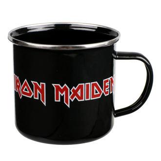hrnek (plecháček) Iron Maiden - Logo - EMUGIM1