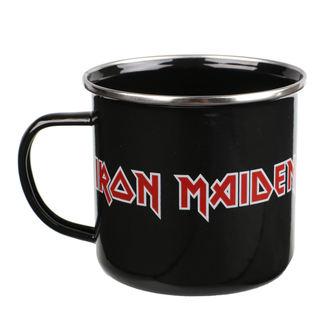 hrnek (plecháček) Iron Maiden - Logo, NNM, Iron Maiden