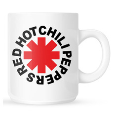 hrnek Red Hot Chili Peppers - Original Logo Astrisk - White, NNM, Red Hot Chili Peppers