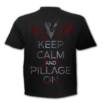 tričko pánské SPIRAL - Vikingové - ROLLO AXE - KEEP CALM - G202M101