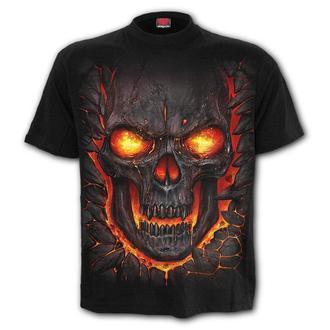 tričko pánské SPIRAL - SKULL LAVA - M026M101