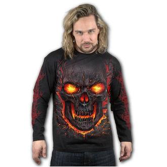 tričko pánské s dlouhým rukávem SPIRAL - SKULL LAVA, SPIRAL