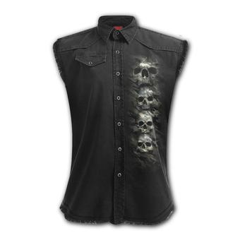 košile pánská bez rukávů SPIRAL - CAMO-SKULL, SPIRAL