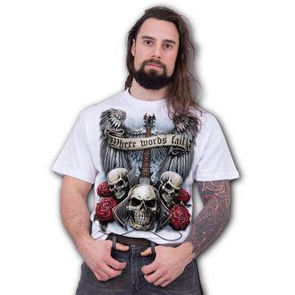tričko pánské SPIRAL - UNSPOKEN - White, SPIRAL