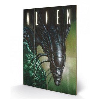 dřevěný obraz Alien - Vetřelec - (Creep) - PYRAMID POSTERS