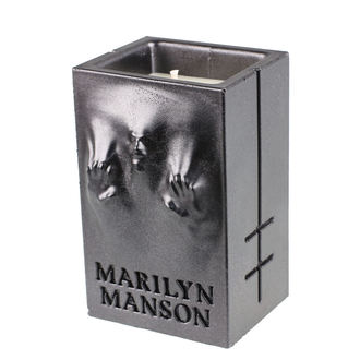 svíčka MARILYN MANSON - BLACK METALLIC - PLASTIC HEAD, PLASTIC HEAD, Marilyn Manson