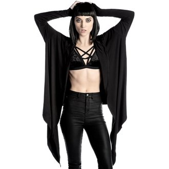 mikina dámská (cardigan) KILLSTAR - Raider Cloak - BLACK, KILLSTAR