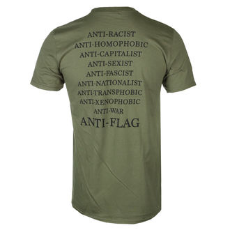 tričko pánské Anti Flag - Flag Burner Green - Military Green - KINGS ROAD, KINGS ROAD, Anti-Flag