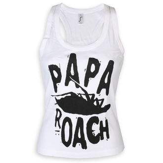tílko dámské Papa Roach - Classic Logo - White - KINGS ROAD, KINGS ROAD, Papa Roach