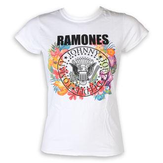 tričko dámské Ramones - Circle Flowers - White - ROCK OFF, ROCK OFF, Ramones
