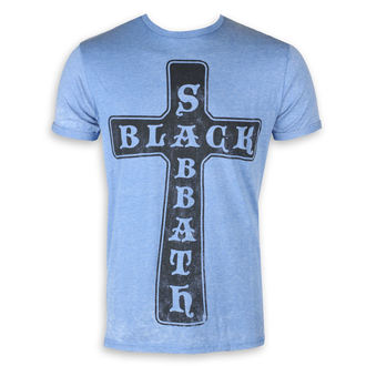 tričko pánské Black Sabbath - Burnout Mid Blue - ROCK OFF, ROCK OFF, Black Sabbath