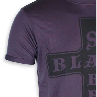 tričko pánské Black Sabbath - Burnout Navy/Red - ROCK OFF, ROCK OFF, Black Sabbath