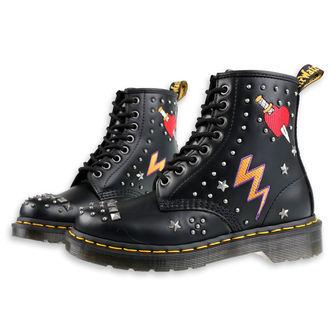 boty Dr. Martens - 8 dírkové - 1460 smooth - black, Dr. Martens