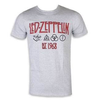 tričko pánské Led Zeppelin – Symbols Est 68 Sports Grey, NNM, Led Zeppelin
