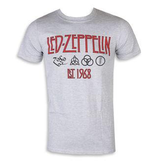 tričko pánské Led Zeppelin – Symbols Est 68 Sports Grey, NNM, Led Zeppelin