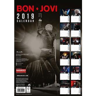 kalendář na rok 2019 BON JOVI, NNM, Bon Jovi