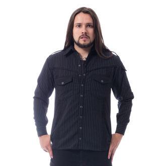 košile pánská Vixxsin - LESS - BLACK PINSTRIPE - POI784