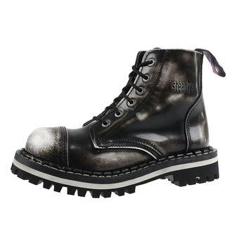 boty STEADY´S - 6 dírkové - White black, STEADY´S