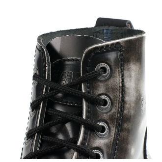 boty STEADY´S - 6 dírkové - White black - STE/6/PAS_white/black