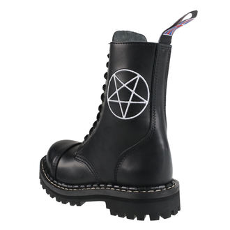 boty STEADY´S - 10 dírkové - Pentagram white, STEADY´S