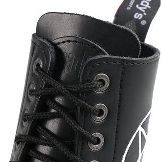 boty STEADY´S - 10 dírkové - Pentagram white