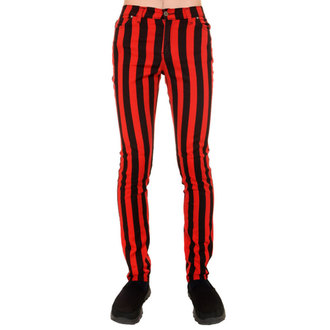 kalhoty (unisex) 3RDAND56th - Stripe Skinny - Blk/Red, 3RDAND56th