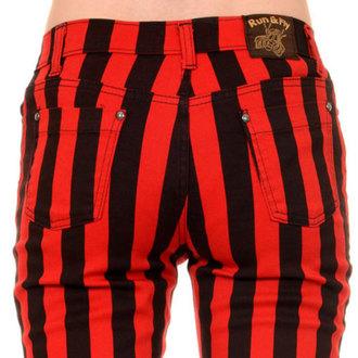 kalhoty (unisex) 3RDAND56th - Stripe Skinny - Blk/Red