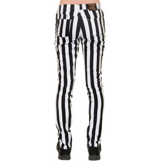 kalhoty (unisex) 3RDAND56th - Stripe Skinny - Blk/WHT