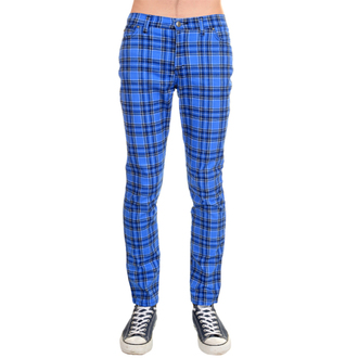 kalhoty (unisex) 3RDAND56th - Tartan Skinny Jeans - Blue/Tartan, 3RDAND56th