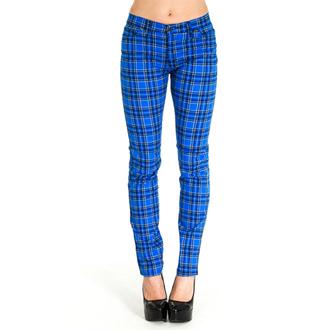kalhoty (unisex) 3RDAND56th - Tartan Skinny Jeans - Blue/Tartan