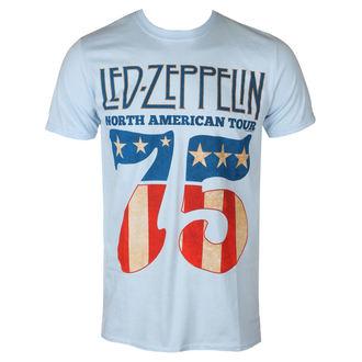 tričko pánské Led Zeppelin - 1975 North American Tour - Blue - RTLZETSB1975