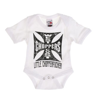 body dětské WEST COAST CHOPPERS - ONESIE LITTLE CHOPPERFUCKER BABY CREEPER - White, West Coast Choppers