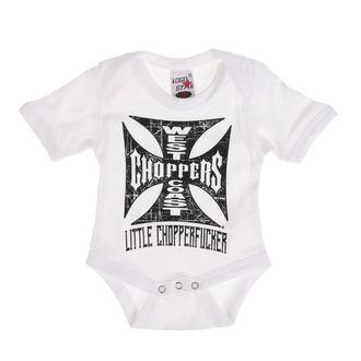 body dětské WEST COAST CHOPPERS - ONESIE LITTLE CHOPPERFUCKER BABY CREEPER - White, West Coast Choppers
