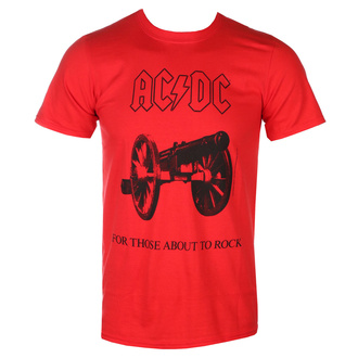 tričko pánské AC/DC - For Those about to rock - red - LOW FREQUENCY, LOW FREQUENCY, AC-DC