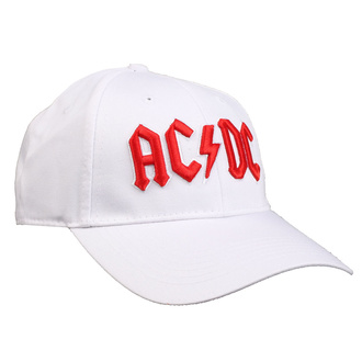 kšiltovka AC/DC - Red Logo White - ROCK OFF, ROCK OFF, AC-DC