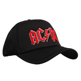 kšiltovka AC/DC - Red Logo Black - ROCK OFF, ROCK OFF, AC-DC