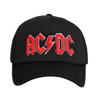 kšiltovka AC/DC - Red Logo Black - ROCK OFF, ROCK OFF, AC-DC