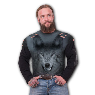 tričko pánské s dlouhým rukávem SPIRAL - SHADOW WOLF, SPIRAL