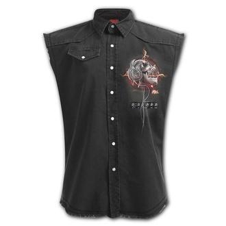 košile pánská bez rukávu (vesta) SPIRAL - NEVER TOO LOUD, SPIRAL