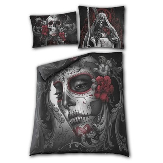 povlečení SPIRAL - Double Bedding - UK+EU Pillow - SKULL ROSES, SPIRAL