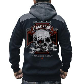 mikina pánská BLACK HEART - REPAIRMAN - BLACK, BLACK HEART