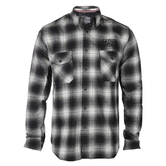 košile pánská LETHAL THREAT - MOTOR GEAR KUSTOM HOT ROD - GREY/BLACK, LETHAL THREAT