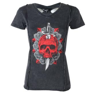 tričko dámské LETHAL THREAT - ANGEL RED DAGGER SKULL - BACK, LETHAL THREAT