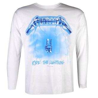 tričko pánské s dlouhým rukávem Metallica - Ride The Lightning - White, NNM, Metallica