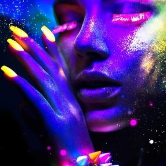 lak na nehty STAR GAZER - Neon Violet, STAR GAZER