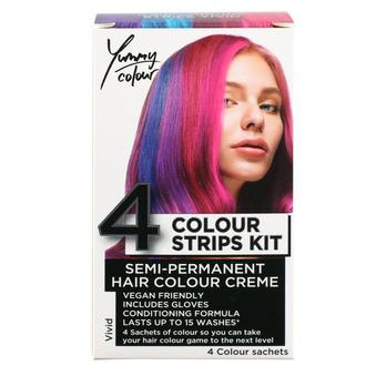 barva na vlasy STAR GAZER - Yummy Colour 4 Colour Strips Kit - Vivid, STAR GAZER